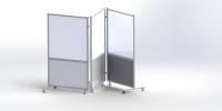 3 Magnetic Mobile Whiteboard Room Divider