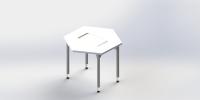 六角形学生桌