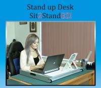 坐立兩用電腦工作桌
