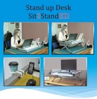 坐立两用电脑工作桌