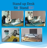 Height Adjustable Table Top  Sit2Stand