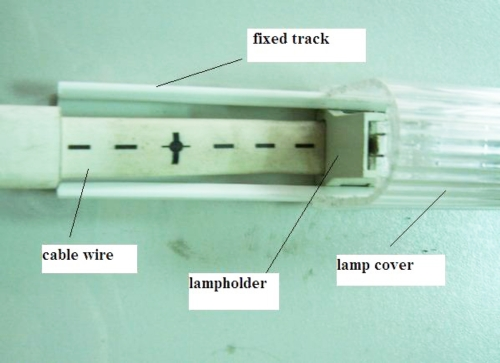 Fixed track with lamp cover
