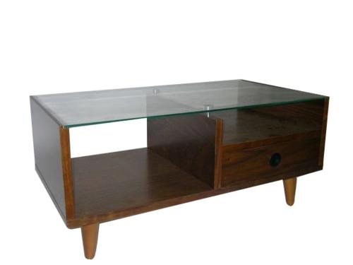 单抽玻璃桌/收纳和室桌