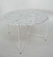 大理石紋收合桌