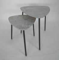 石纹造型子母桌