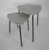 石紋造型子母桌