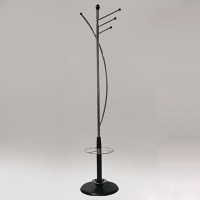 Iron Coat Rack W/Umbrella Stand