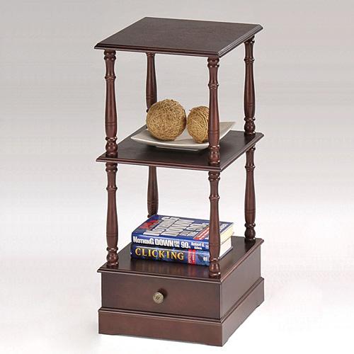 Telephone Stand (2 Shelves, 1 Drawer)