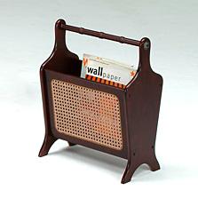 Woven-rattan Magazine Rack