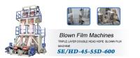 TRIPLE LAYER DOUBLE HEAD HDPE BLOWN FILM MACHINE