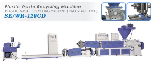Plastic Waste Recycling Machine (Two Stage Type)