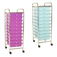 10-layer pegboard storage cart with PP drawers