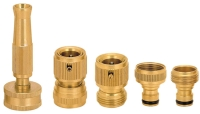 5PCS BRASS 1/2 HOSE CONNECTOR SET