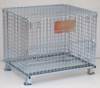 Foldable Wire Containers with Top Cover
