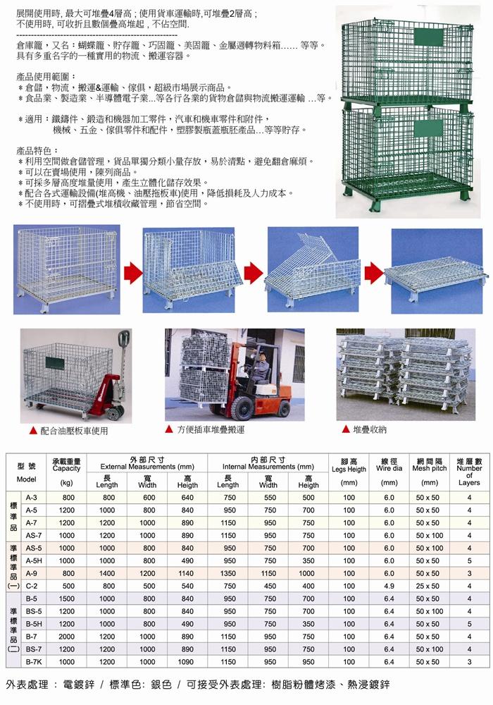 倉庫籠收摺使用說明