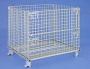 Manual-foldable wire containers