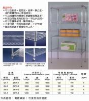Wire shelf / wire storage shelf specs