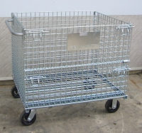 Foldable Wire Container with Handle