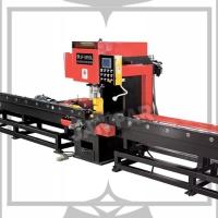 槽鐵、角鐵、平板鐵材、NC數值沖孔切斷自動定位加工機