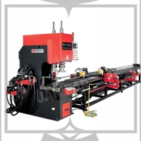 圓管、四方管、長方管、高速NC數值雙缸直線沖孔機