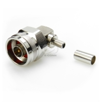 RF Coaxial Connector, N R/A for RG-142 (w/ hex nut)