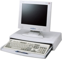 Monitor Stand W/Keyboard Drawer