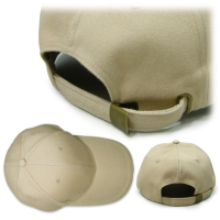 6 Panel Brushed Cotton Caps with Contrasting Sandwich Peak in white