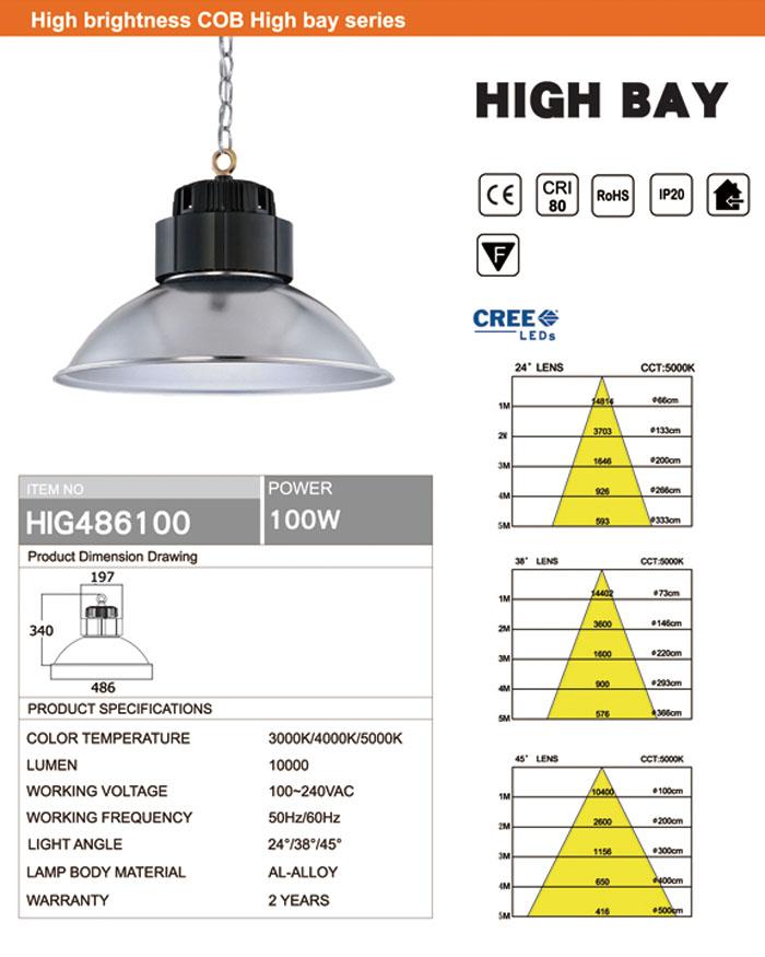 CREE 100W LED HIGH BAY