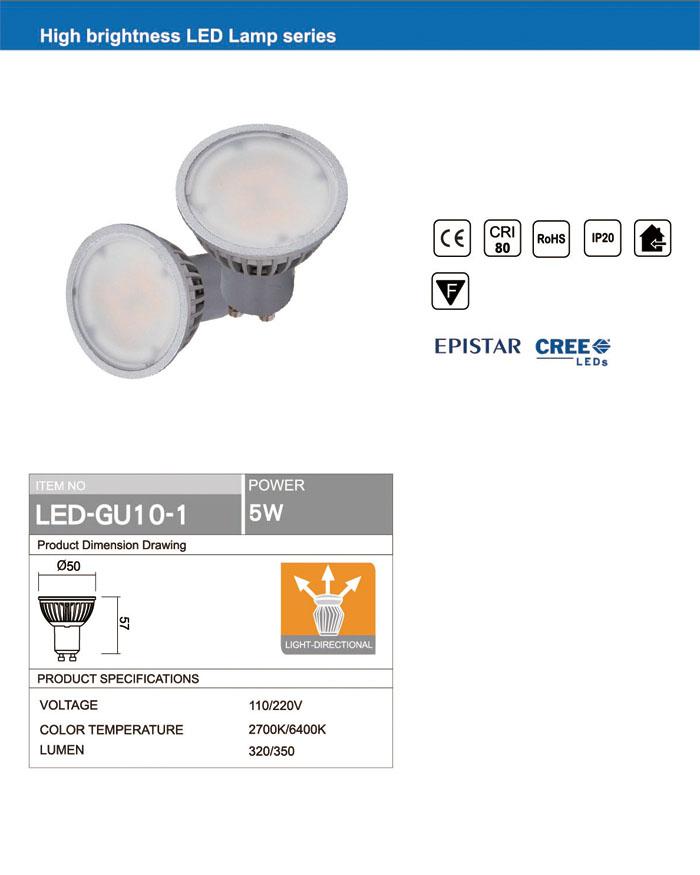 Bulb Lamp Light retrofit energy saving 5W GU10 LED