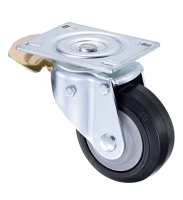8 inch Aluminum Rim Rubber Heavy Duty Swivel Caster Wheels