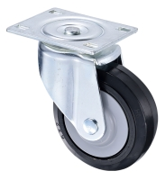 Heavy Machine Moving Heavy Duty Roller Rubber Wheels 8 inch
