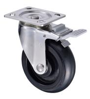 6吋鍍鉻橡膠活動輪(6x1.5