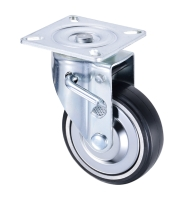 Elastic Rubber Chrome Locking Wheel 6 inch Casters