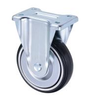 6吋鍍鉻橡膠雙剎車輪(6x1.5
