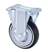 150mm Front Total Lock Brake Heavy Duty Rubber Caster Wheel