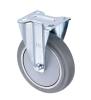 6寸镀铬橡胶固定轮(6x1.5
