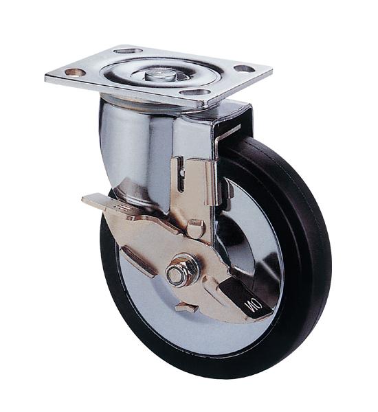 5寸弹力橡胶活动轮,推车轮(5x1.5