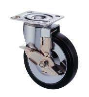 5吋彈力橡膠活動輪,推車輪(5x1.5