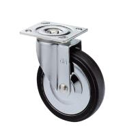 5吋彈力橡膠側煞車輪,推車輪(5x1.5