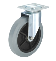 5 inch Side Braking Rubber Heavy Duty Industrial Trolley Wheels