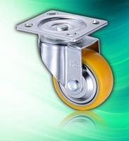 100mm Aluminum Core Swivel Industrial PU Dolly Wheels