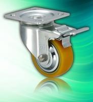 Polyurethane Heavy Duty 4 inch Aluminum Continuous Caster