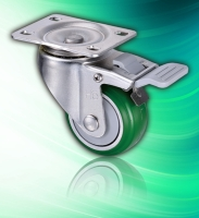 Fixed PU 75mm Rollerblade Style Caster Wheel