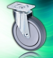 150mm TPR Top Plate Swivel Medical Castor