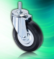 125mm Rubber Adjustable Height Heavy Duty Threaded Casters