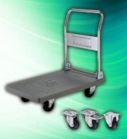 Industrial 300kg Folding Stainless Steel Trolley Cart