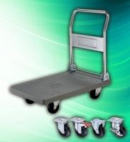 Industrial 500kg Plastic Platform Foldable Hand Push Cart