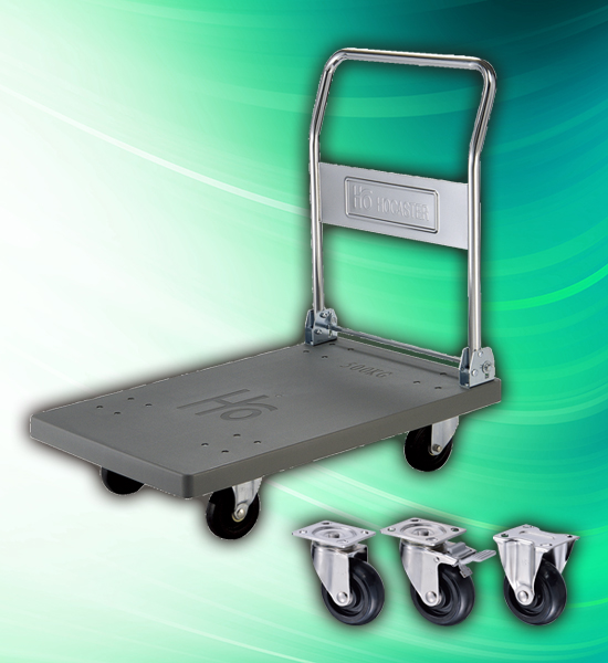 500kg High Impact Plastic Heavy Duty Stainless Steel Hand Trolley