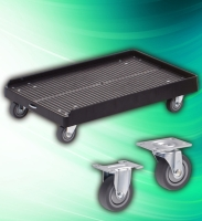 CENS.com 250kg High Impact Plastic Moving Wheel Dolly with 4 Casters
