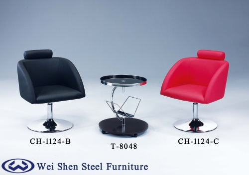 Leisure sofa chair, Glass Coffee Table, Hotel Furniture, Swivel Lounge Chair